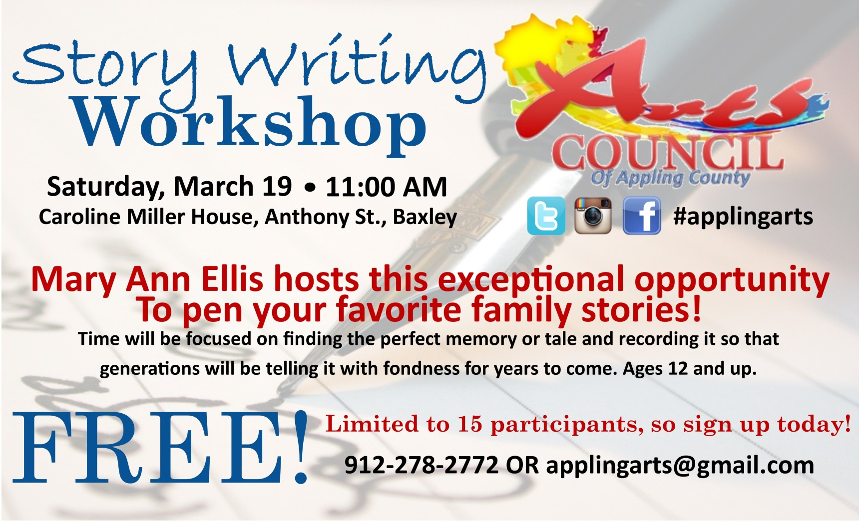 Story Writing Workshop Eddings Enterprise
